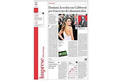 """""""Damiani, la svolta con Calderoni per il mercato dei diamanti sciolti"""""""